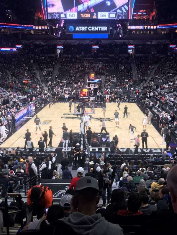AT&T Center, section: 128, row: 28, seat: 18