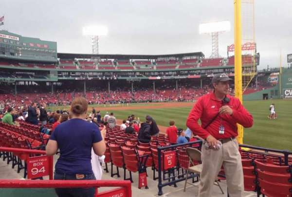 Fenway Park, section: Right Field Box