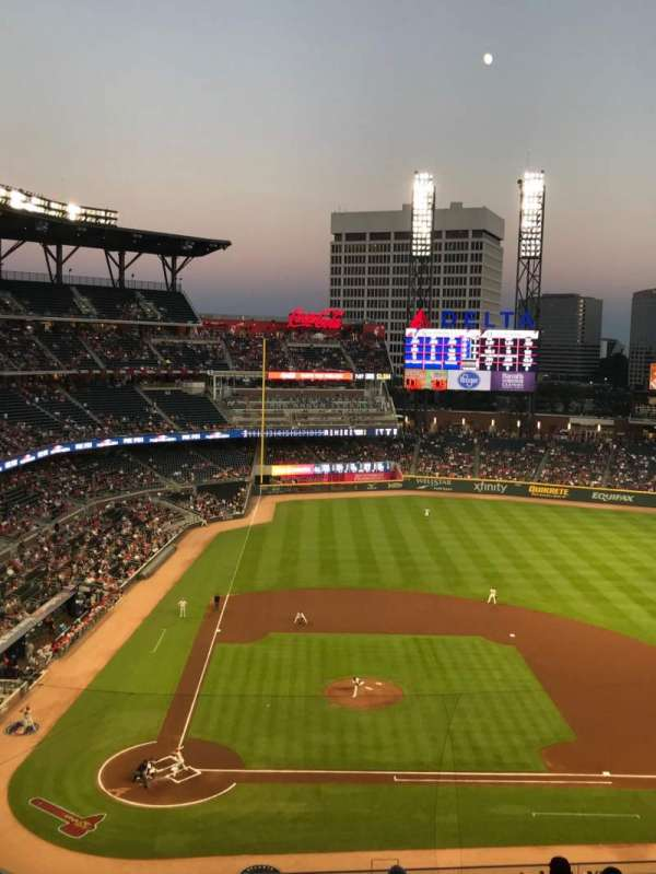 SunTrust Park, section: 322, row: 10, seat: 18