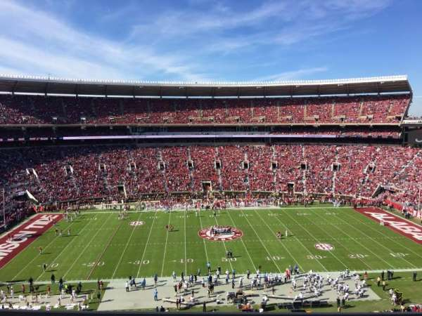 Bryant-Denny Stadium, section: HH, row: 1, seat: 20