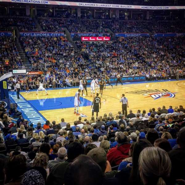 Chesapeake Energy Arena, section: 107, row: N, seat: 16