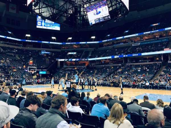 FedEx Forum, section: 106, row: F, seat: 4