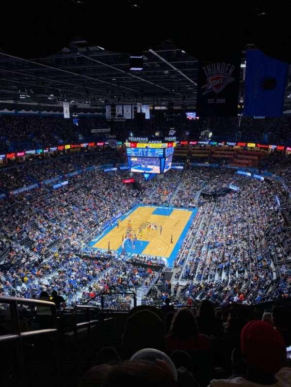 Chesapeake Energy Arena, section: 314, row: P, seat: 25