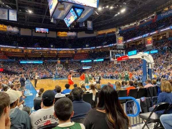 Chesapeake Energy Arena, section: 112, row: DD, seat: 4