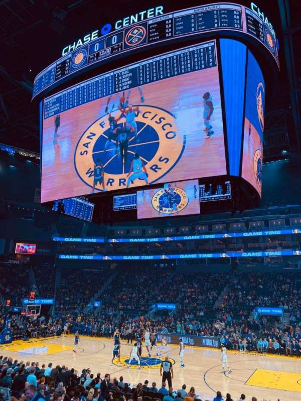 Chase Center, section: 114, row: 5, seat: 15