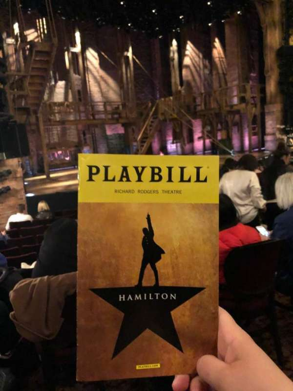 Richard Rodgers Theatre, section: Orchestra L, row: L, seat: 21