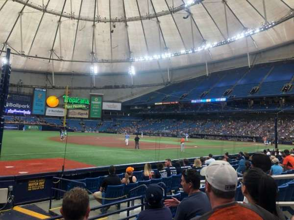 Tropicana Field, section: 127, row: G, seat: 20