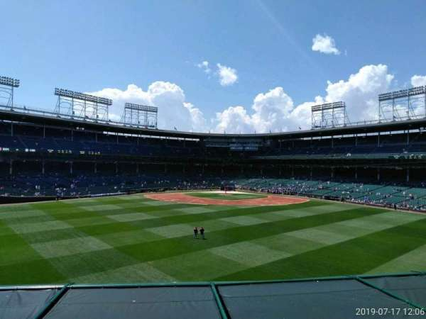 Wrigley Field, section: Center Field, row: 1, seat: 25