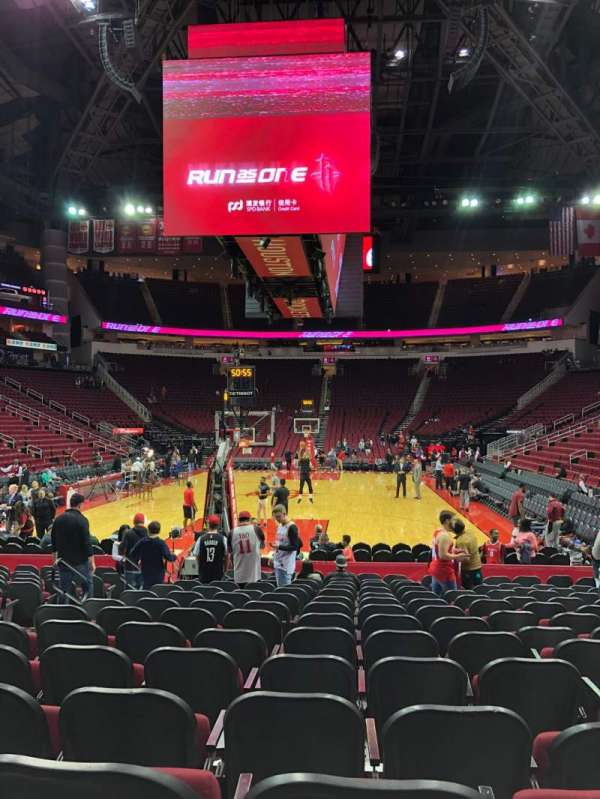 Toyota Center, section: 113, row: 6, seat: 8
