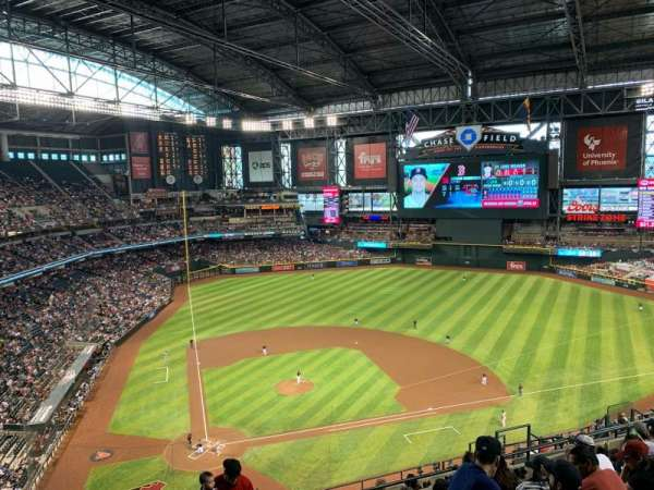 Chase Field, section: 312, row: 14, seat: 17