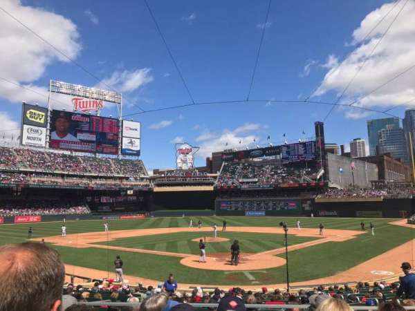 Target Field, section: 115, row: 4, seat: 5