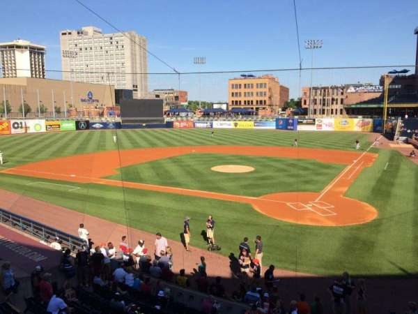 Fifth Third Field, section: 207, row: 1, seat: 4