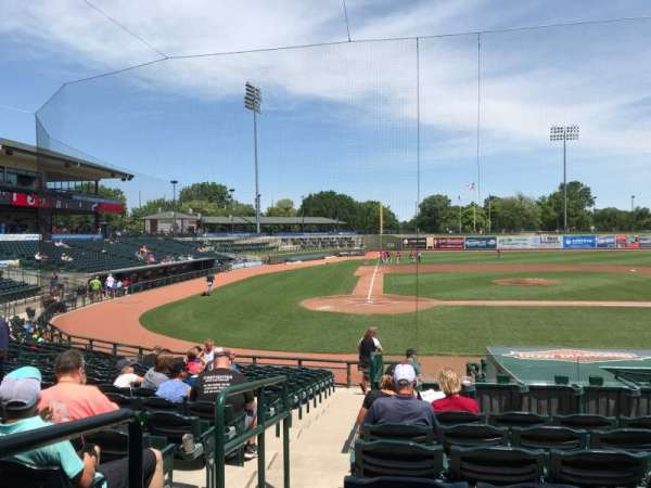 Dow Diamond, section: 110, row: 18, seat: 1