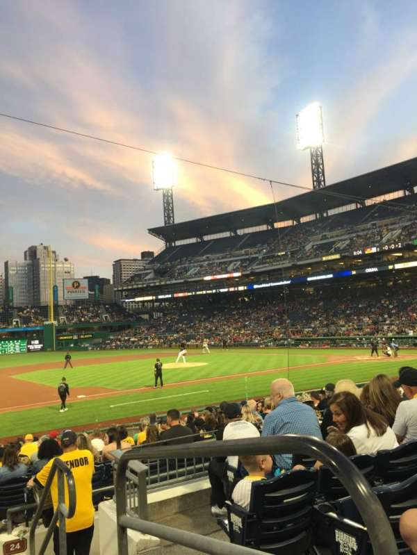 PNC Park, section: 125, row: F, seat: 1