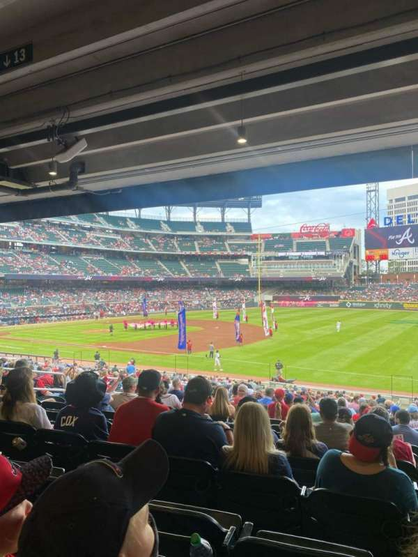 Truist Park, section: 113, row: 17, seat: 13