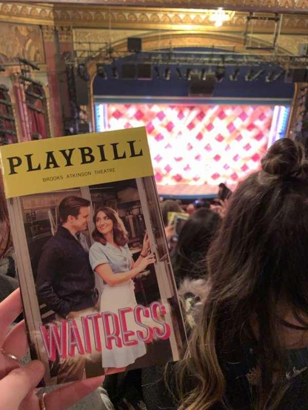 Brooks Atkinson Theatre, section: Mezzanine, row: K, seat: 122