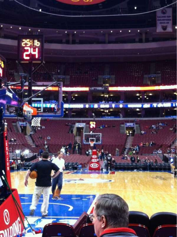Wells Fargo Center, section: 120, row: D