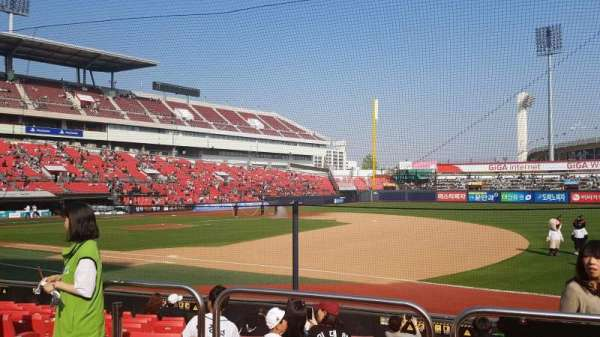 KT Wiz Park, section: 108, row: 3, seat: 32