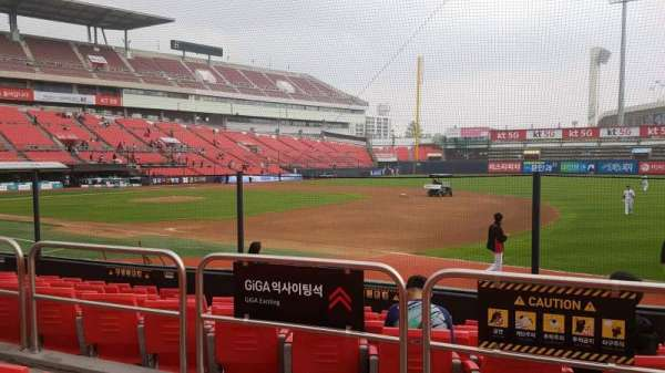 KT Wiz Park, section: 108, row: 3, seat: 28