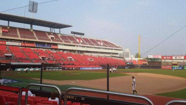 KT Wiz Park, section: 108, row: 2, seat: 20