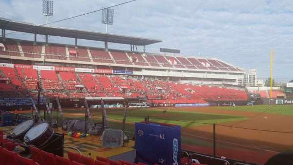 KT Wiz Park, section: 108, row: 9, seat: 99