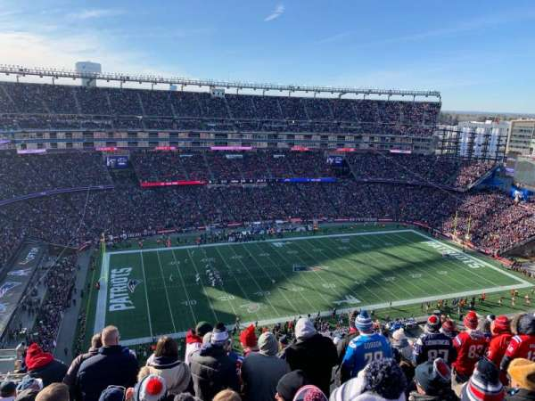 Gillette Stadium, section: 313, row: 19, seat: 16