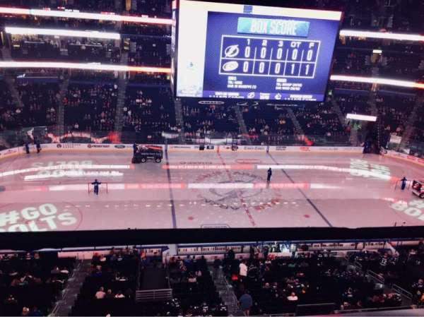 Amalie Arena, section: 302, row: A, seat: 9