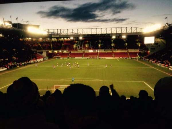 Bramall Lane, section: Kop Stand Gangway E, row: QQ, seat: 119