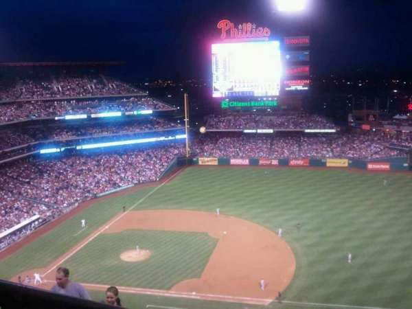 Citizens Bank Park, section: 413V, row: 9, seat: B