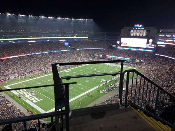 Gillette Stadium, section: 339, row: 9, seat: 1