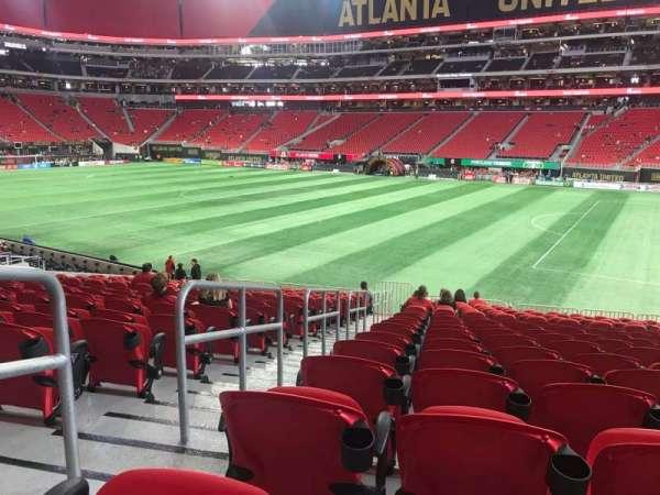 Mercedes-Benz Stadium, section: 106, row: 23, seat: 23