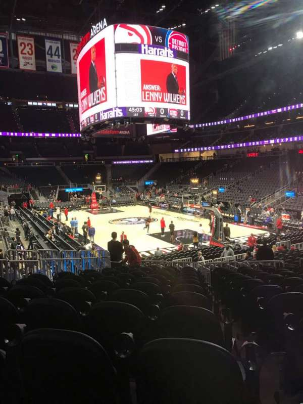 State Farm Arena, section: 104, row: M, seat: 12