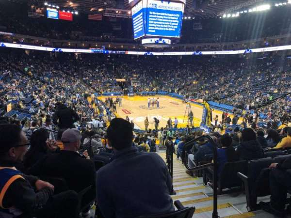 Oracle Arena, section: 123, row: 18, seat: 2