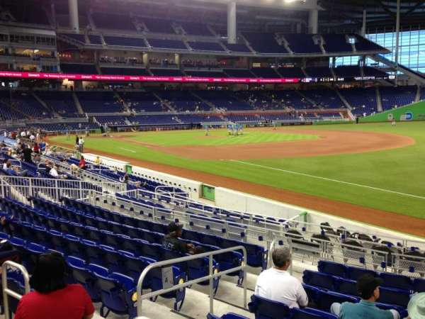 Marlins Park, section: 4, row: 1, seat: 13