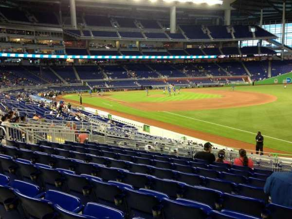 Marlins Park, section: 4, row: 9, seat: 3