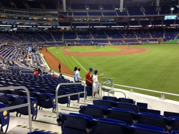 Marlins Park, section: 1, row: 15, seat: 7