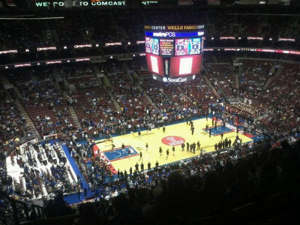 Wells Fargo Center, section: 223, row: 15, seat: 1