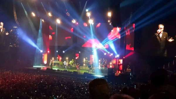 The O2 Arena, section: W, row: Z, seat: 77