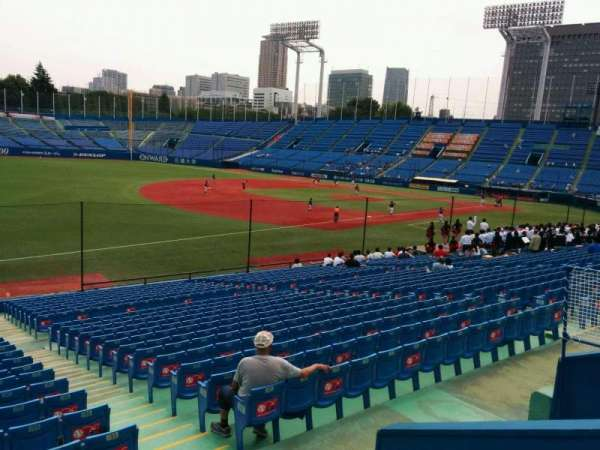 Jingu Stadium, section: 12, row: 29, seat: 185