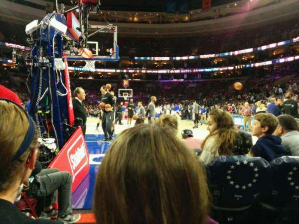 Wells Fargo Center, section: 120, row: b, seat: 2