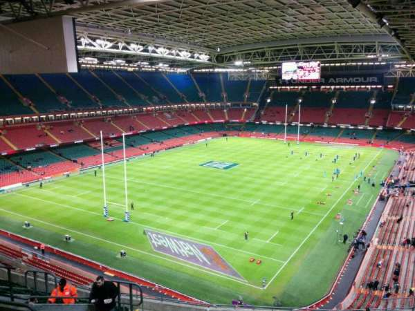 Principality Stadium, section: u16, row: 18, seat: 12