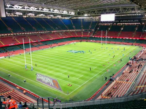 Principality Stadium, section: U15, row: 16, seat: 6