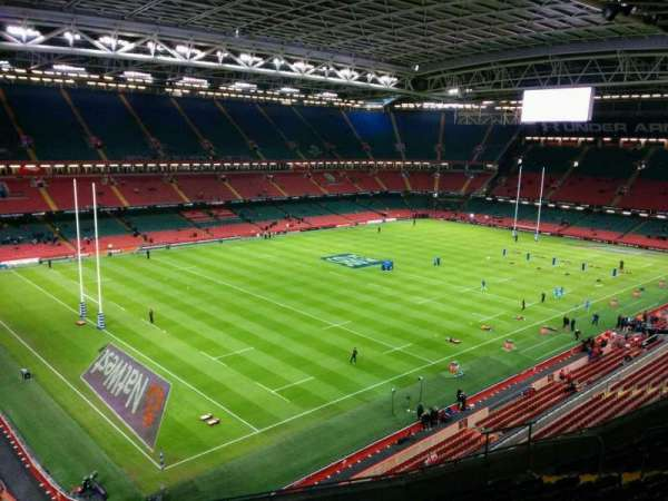 Principality Stadium, section: u14, row: 13, seat: 10
