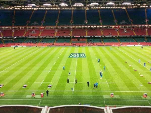 Principality Stadium, section: u9, row: 3, seat: 19