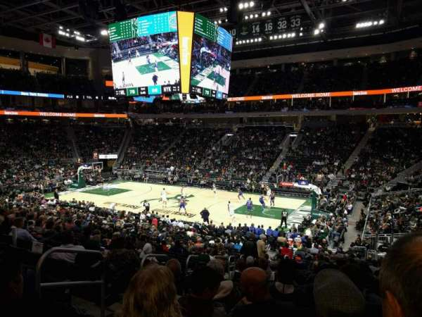 Fiserv Forum, section: 115, row: 22, seat: 20