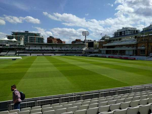 Lord's Cricket Ground, section: Grandstand A, row: 9, seat: 38