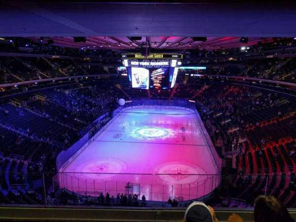 Madison Square Garden, section: 416, row: 3, seat: 10