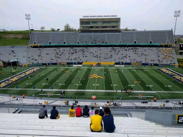 Mountaineer Field, section: 206, row: 16, seat: 111