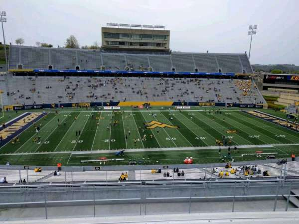 Mountaineer Field, section: 205, row: 9, seat: 18
