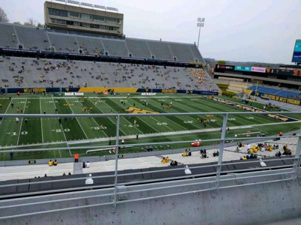 Mountaineer Field, section: 204, row: 3, seat: 114